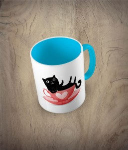 Kubek cat in a cup